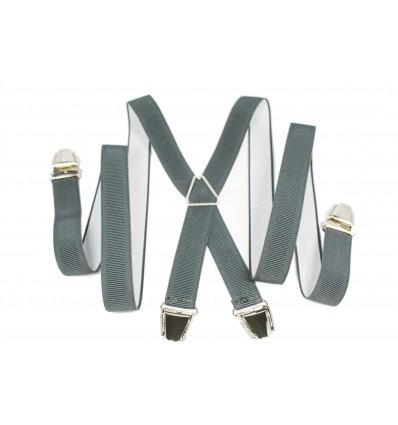 """Bretelle elastique fine """"X"""" à 4 pinces fabrication française"""