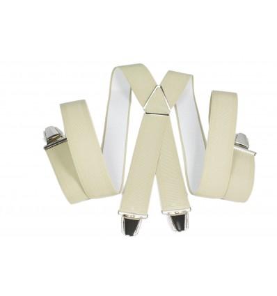 """Bretelle elastique large """"X"""" à 4 pinces fabrication française"""