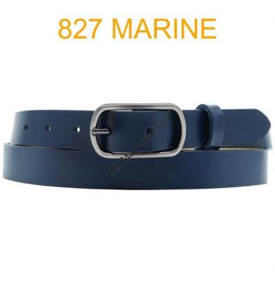 Ceinture femme en croute de cuir de vachette 827 Marine