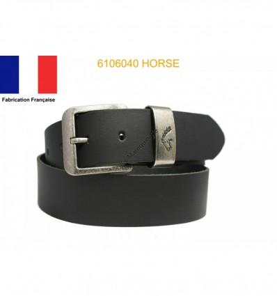 Ceinture en croûte de cuir de vachette fabriqué en France 6106040 Cheval
