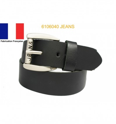 Ceinture en croûte de cuir de vachette fabriqué en France 6106040 Jeans