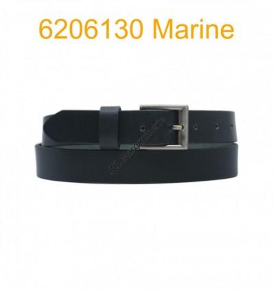"Ceinture en cuir de buffle ""veau gras"" fabriqué en France 6206130 Marine"