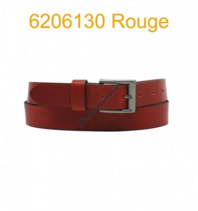 """Ceinture en cuir de buffle """"veau gras"""" fabriqué en France 6206130 Rouge"""
