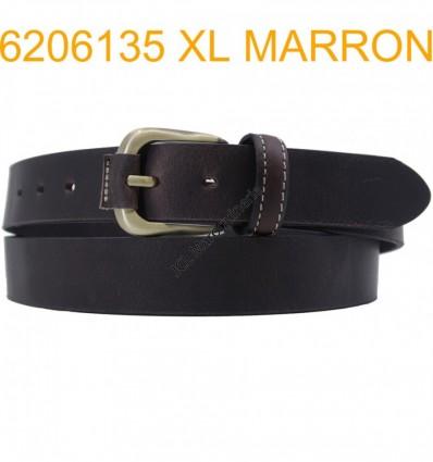 "Ceinture en cuir de buffle ""veau gras"" fabriqué en France 6206135 Marron XL Grande taille"