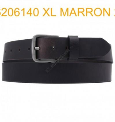 "Ceinture en cuir de buffle ""veau gras"" fabriqué en France 6206140 Marron XL Grande taille"