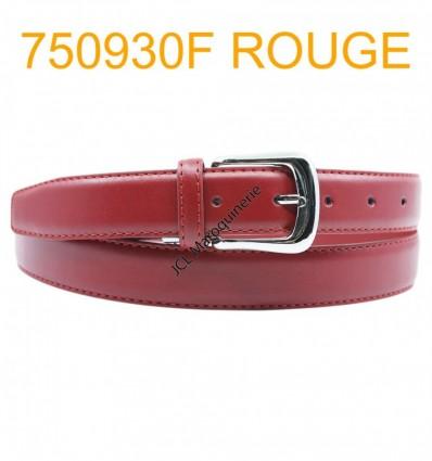 Ceinture femme large en croute de cuir de vachette 750930F rouge