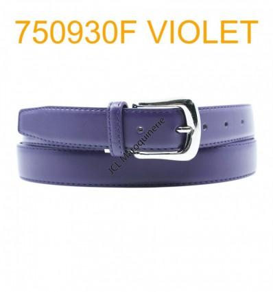 Ceinture femme large en croute de cuir de vachette 750930F violet
