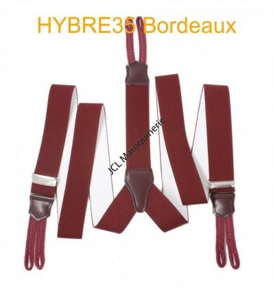 """Bretelle à bouton élastique large """"Y"""" à 3 branches fabrication française bordeaux"""